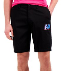 ax armani exchange bold fluorescent logo shorts, created for macy's