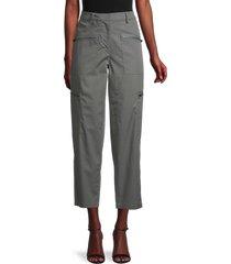 theory women's aviator cargo pants - green - size 2