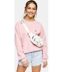 petite pink pizza sweatshirt - pink