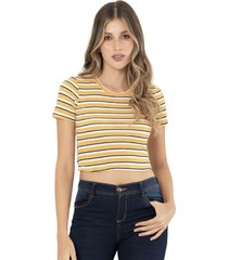 camiseta rayas amarillo ragged pf11120930