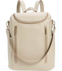 nordstrom sodo leather backpack - grey
