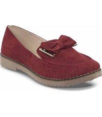 mocasines ashlen rojo para mujer croydon