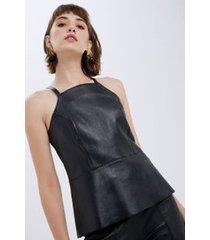 top túnica com faixa preto