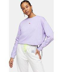 petite lilac chilli pepper sweatshirt - purple