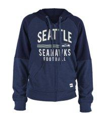 5th and ocean seattle seahawks women's team zip-up hoodie