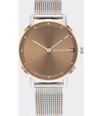 tommy hilfiger women's casual watch wi mesh bracelet metallic -