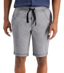 inc men's regular-fit drawstring shorts, created for macy's