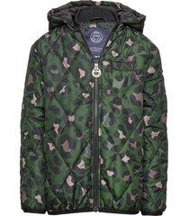 k. quilted hood jacket gevoerd jack groen svea