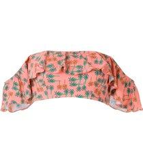 track & field gipsy ilha bikini top - pink