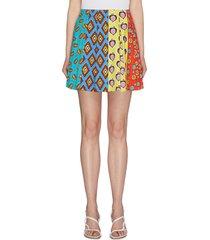 x carla kranendonk pleated graphic print patchwork lampshade skirt