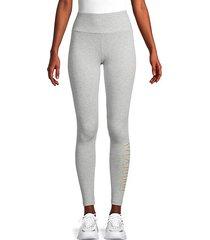 logo stretch-cotton leggings