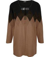 vest m. collection zwart::bruin::beige