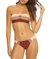 resort colorblock bandeau bikini top
