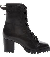 estefania bootie - 11 black leather