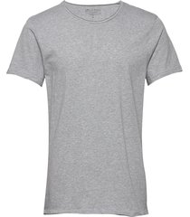 crew-neck relaxed t-shirt t-shirts short-sleeved grå bread & boxers