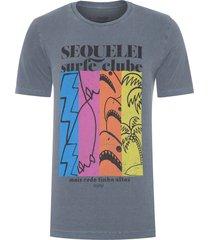 t-shirt masculina tinturada sequelei - cinza