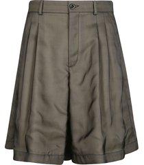 maison margiela wide pleated shorts