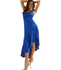 vestido sl kaia dress g7w0 azul guess