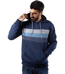 plus hoodie  canguro chest azul gangster