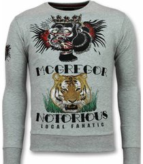 sweater local fanatic mcgregor tattoo trui - notorious sweater -