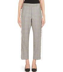 plaid lace-up pants