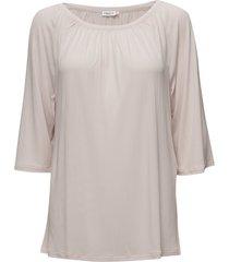 gathered scoop neck blouse tuniek roze filippa k