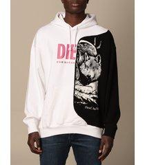diesel sweatshirt diesel hoodie with logo and print