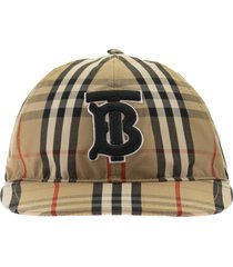 burberry monogram motif vintage check cotton baseball cap