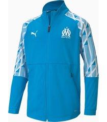 olympique de marseille voetbaljack, blauw/wit, maat 116   puma
