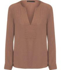 blusa feminina chiffon - marrom