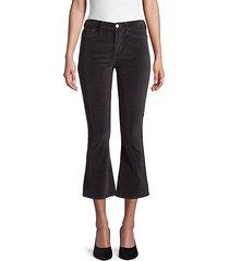 le crop velvet bootcut pants