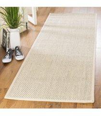 """safavieh natural fiber black and ivory 2'6"""" x 8' sisal weave runner area rug"""