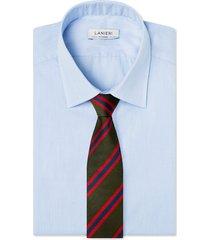 cravatta su misura, lanieri, regimental riga unexpected verde, quattro stagioni