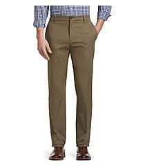 travel tech slim fit flat front casual pants - big & tall by jos. a. bank