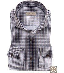 overhemd john miller tailored fit geruit
