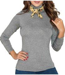 blusa iron gris para mujer croydon