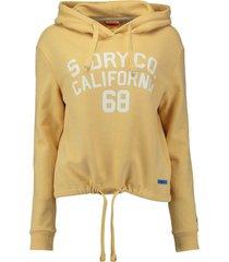 hoodie calie surf geel