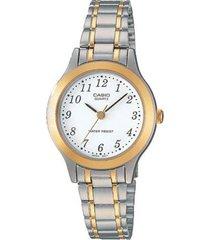 reloj casio ltp_1128g_7br plateado acero inoxidable