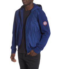 men's canada goose windbridge zip hoodie, size medium - blue