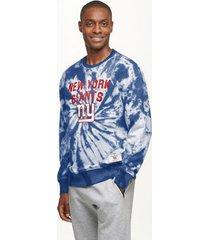 tommy hilfiger men's new york giants tie-dye sweatshirt royal/ny giants - l
