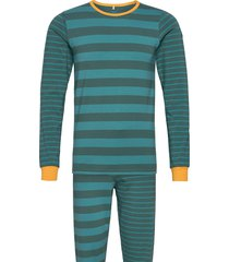 pyjamas set striped adult pyjamas grön polarn o. pyret