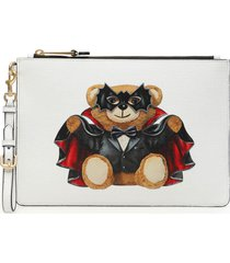 moschino bat teddy bear pouch