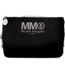 mm6 maison margiela tulle clutch bag - black