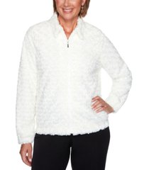 alfred dunner petite faux-fur jacket