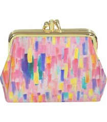 buxton women's mini abstract pik-me-up triple frame wallet