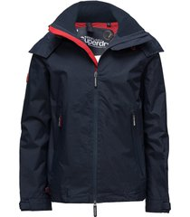 hooded technical cliff hiker tunn jacka blå superdry