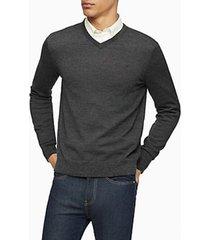 sweater slim fit merino gris calvin klein