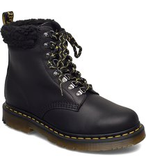 1460 collar black snowplow wp+borg fleece shoes boots ankle boots ankle boot - flat svart dr. martens