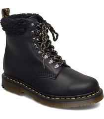 1460 collar black snowplow wp+borg fleece shoes boots ankle boots ankle boot - flat svart dr. martens