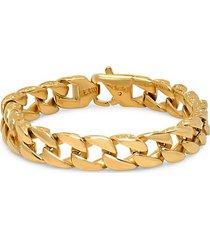 18k goldplated stainless steel chain link bracelet